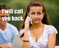 I will call you back
